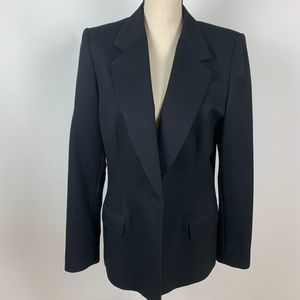 Pendleton Classic Black One Button Wool Blazer 10